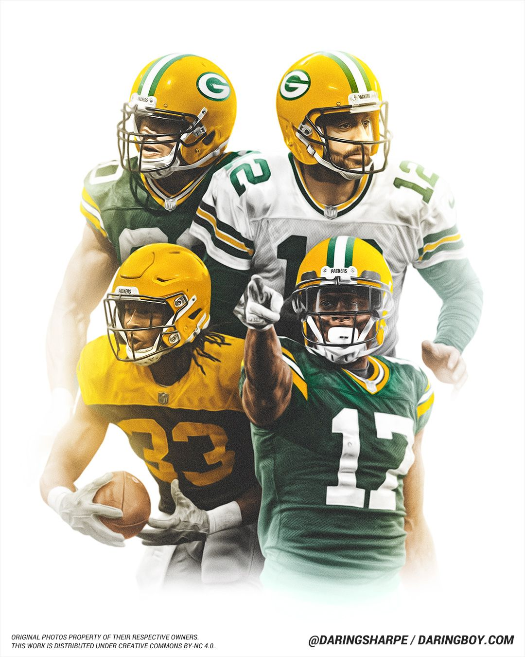 Aaron Rodgers Jimmy Graham Aaron Jones Davante Adams Green Bay Packers Green Bay Packers Packers Aaron Rodgers