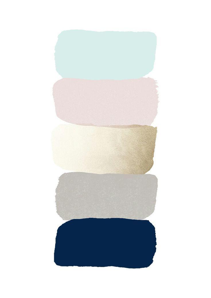 The Perfect Palette: Mauve, Plum, Rose Gold and Navy #livingroomcolorschemeideas