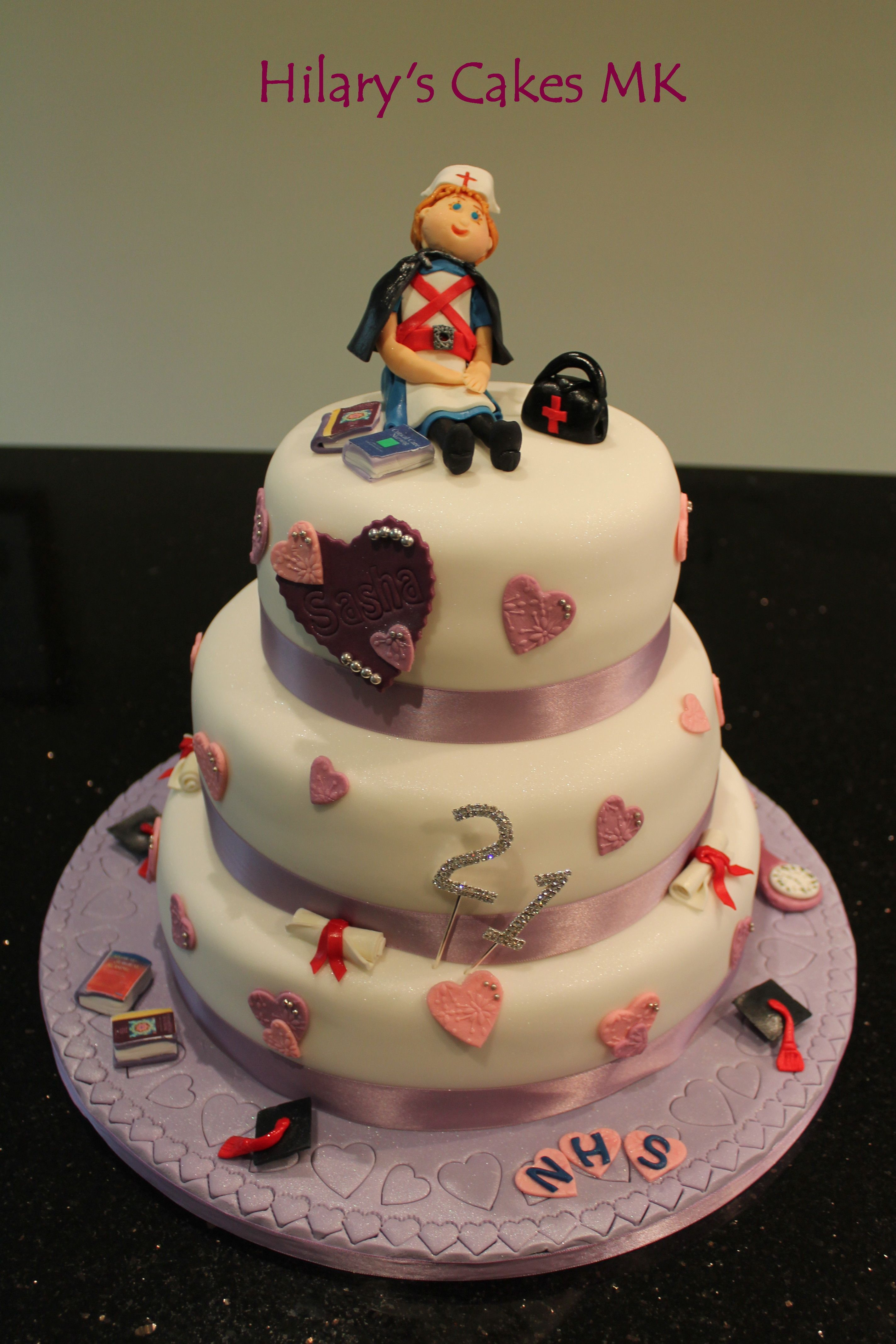 21st birthday cake for a newly qualified nurse cakes Pinterest