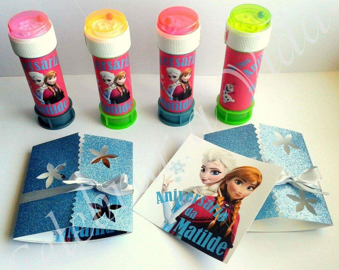 Bolinhas de Sabão + Convites Frozen