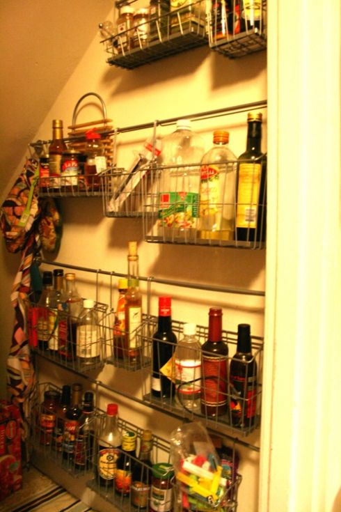 Maximize Small Pantry For The Home Stairway Storage