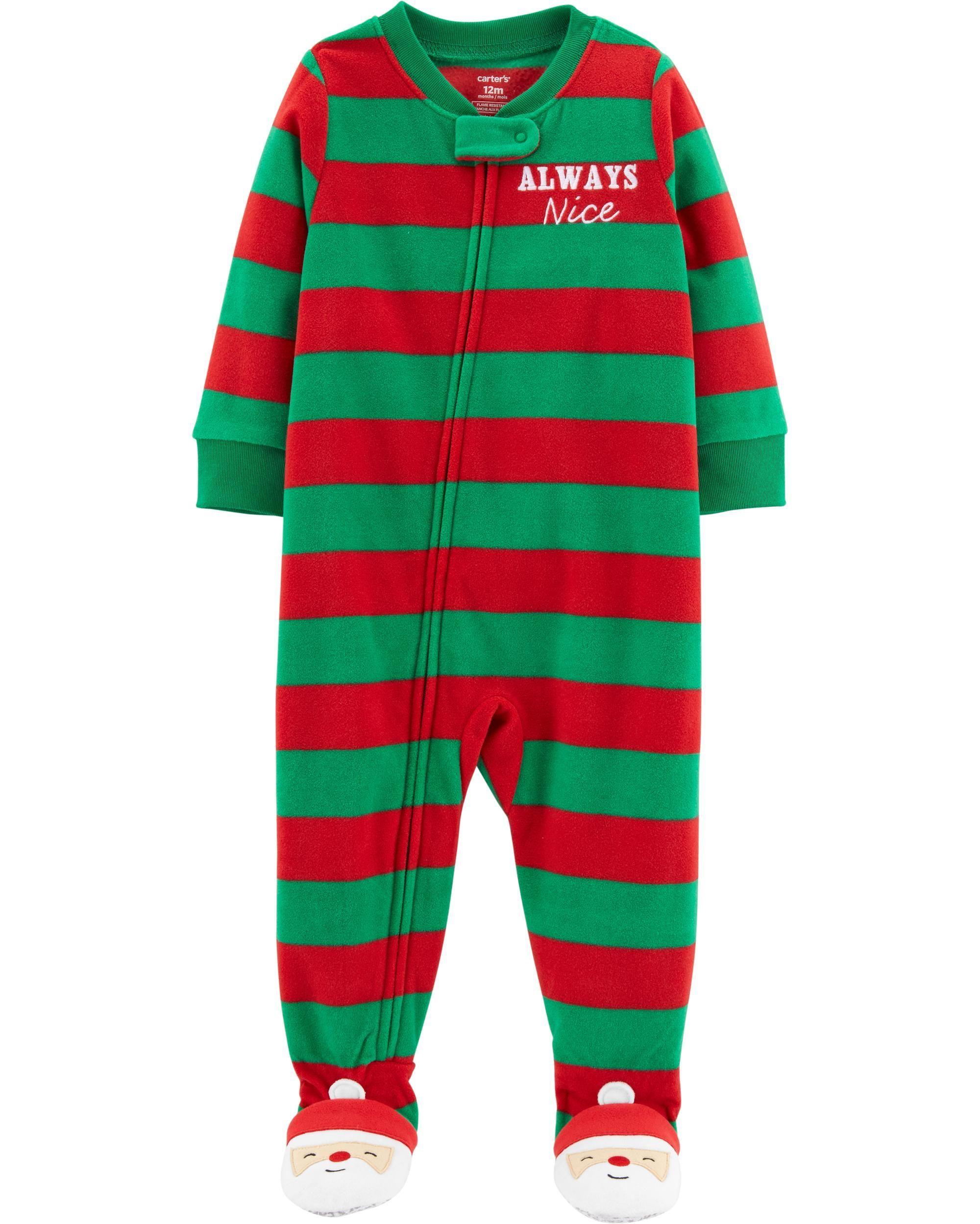 3eb42765b6d 1-Piece Christmas Fleece PJs