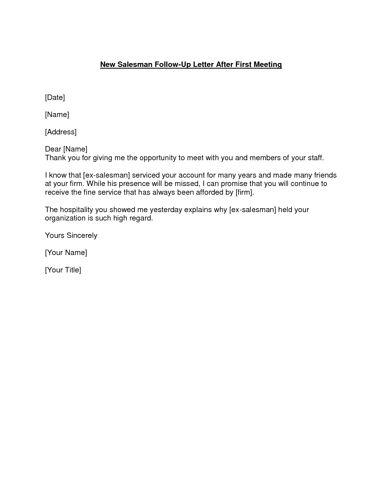 Sample Of Reminder Letter For A Meeting