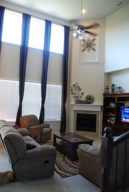 Two Story Great Room Curtains Two Story Curtains Living Room Drapes Pinterest Living