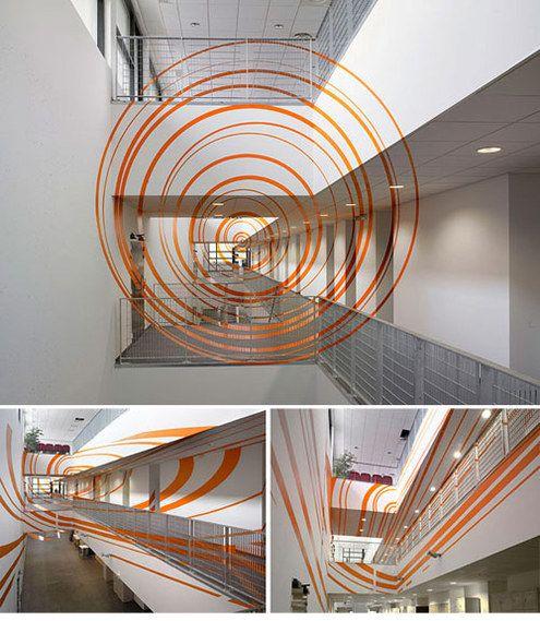 Anamorphic Geometric Installations by Felice Varini | Installations