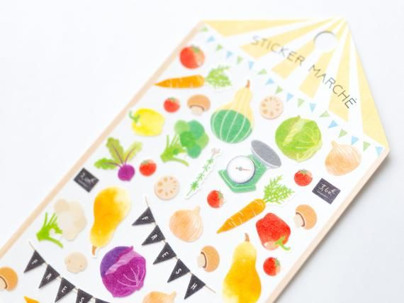 "Photo of MIDORI Sticker Marche ""vegetable"", Japanese Masking Sticker by DESIGNPHIL"