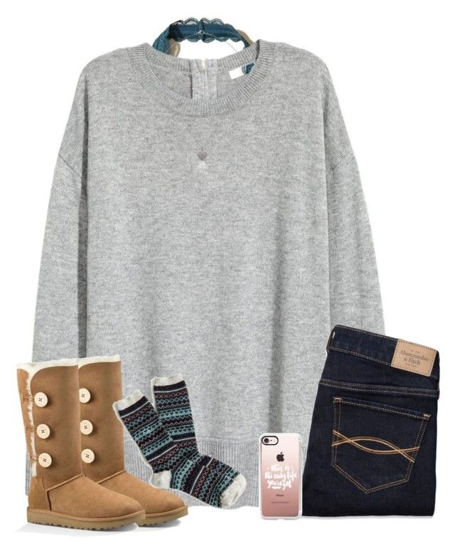 by southernstruttin on Polyvore featuring Abercrombie & Fitch, Hollister Co., J.Crew, UGG Australia, Judith Jack and Casetify