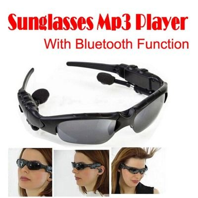 Sunglasses bluetooth 3.0 mp3 a2dp headphone for iphone smartphone