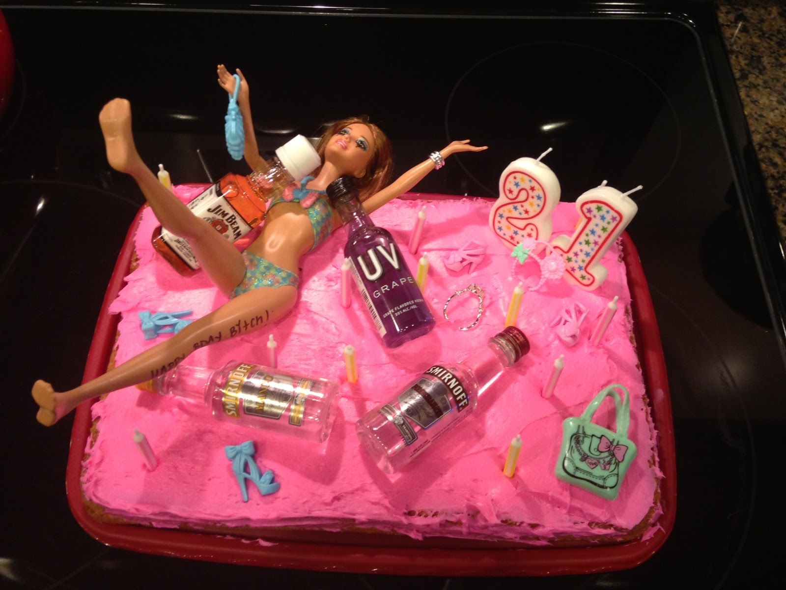 21st Birthday Cakes For Girls Drunk Barbie 21st Birthday