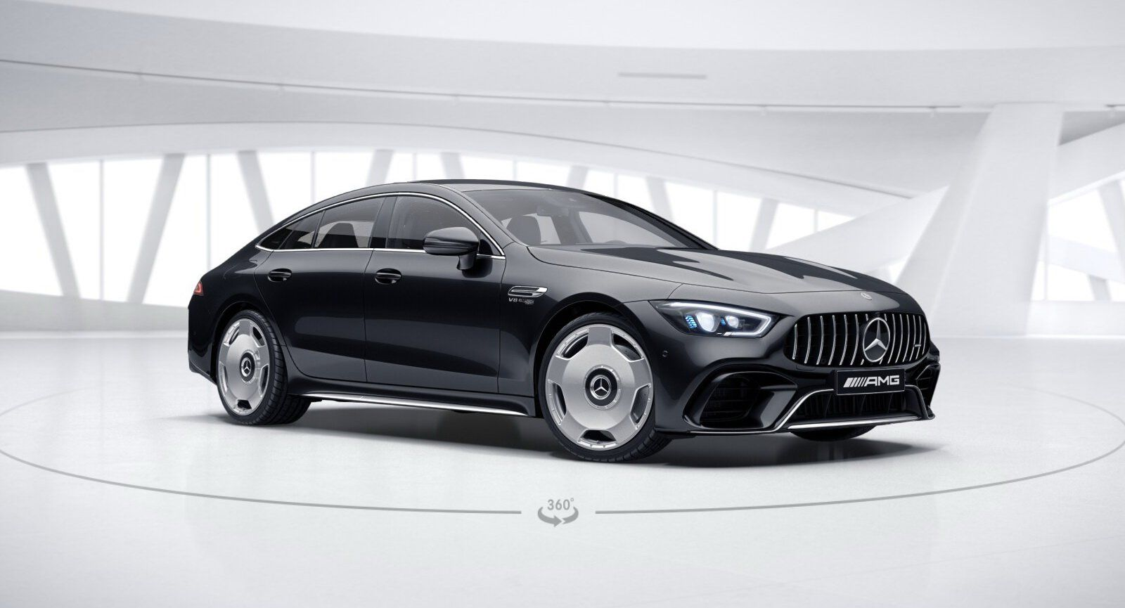 Mercedes Amg Gt 4 Door Coupe Poses On New Monoblock Wheels And The Want Is Real Carscoops Mercedes Amg Amg Mercedes
