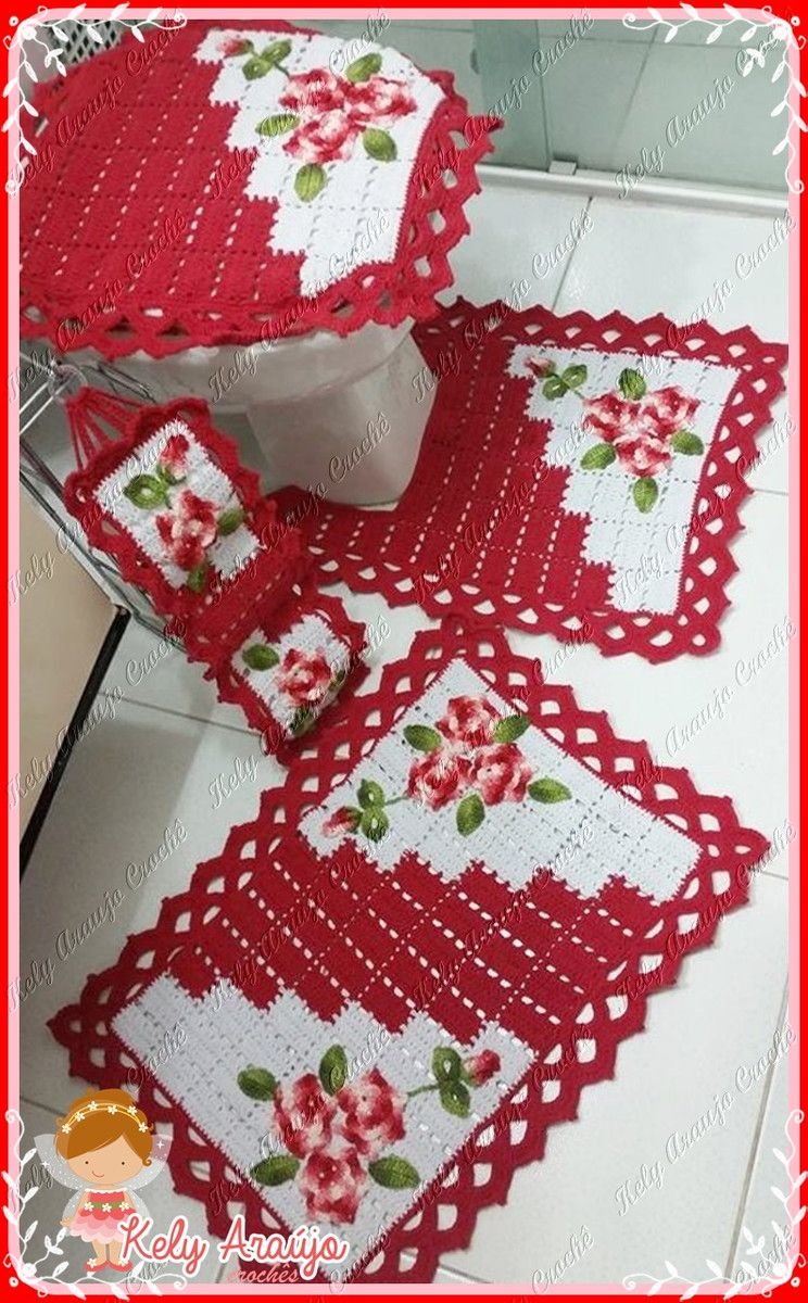 Jogo De Banheiro Em Croche No Elo7 Arte Minas Croche C12056 Jogo De Cozinha Croche Jogos De Banheiro Jogo De Banheiro Barbante