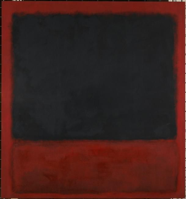 Blood and the guts and conflict. Dark but Strong.  Mark Rothko