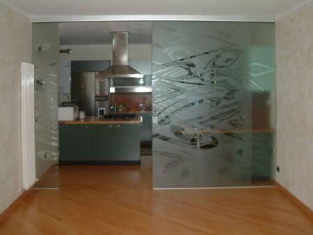 Pareti in vetro scorrevoli cerca con google s paration pi ce separateur de piece pi ce et - Parete divisoria cucina soggiorno ...