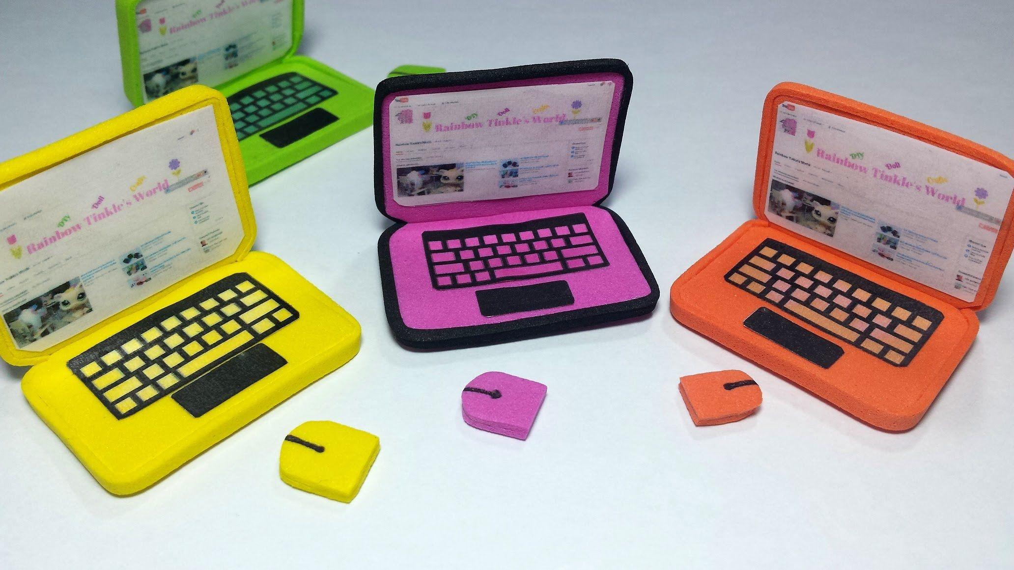 Diy Doll Laptop For Lps Or Mlp Dollhouse Diy Miniatures