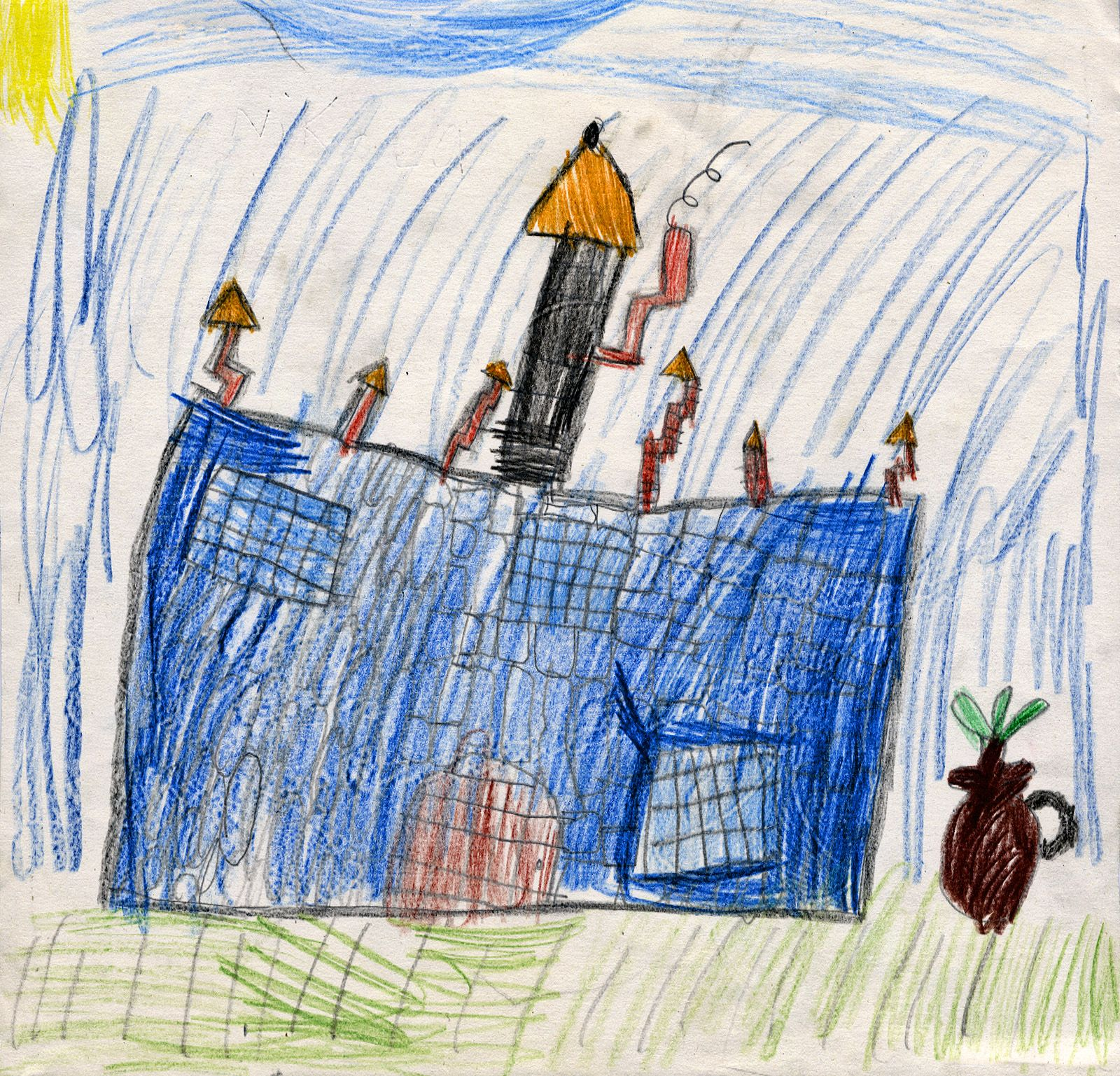 Nicola Sabola, age 6, was highly commended for her drawing of Narrow Water Castle