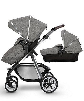 Black Designs Reversible Seat Liners for Silver Cross Pioneer Pushchairs