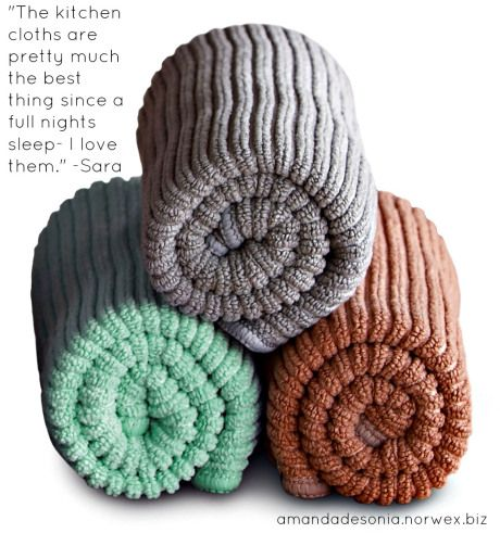 Norwex Kitchen Cloths Work With Water Norwex Norwex Cleaning Microfiber Cleaning Cloths