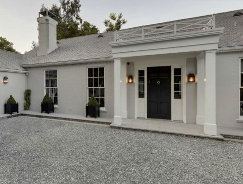 Ligth gray revere pewter exterior home revere pewter - Exterior paint coverage on stucco ...