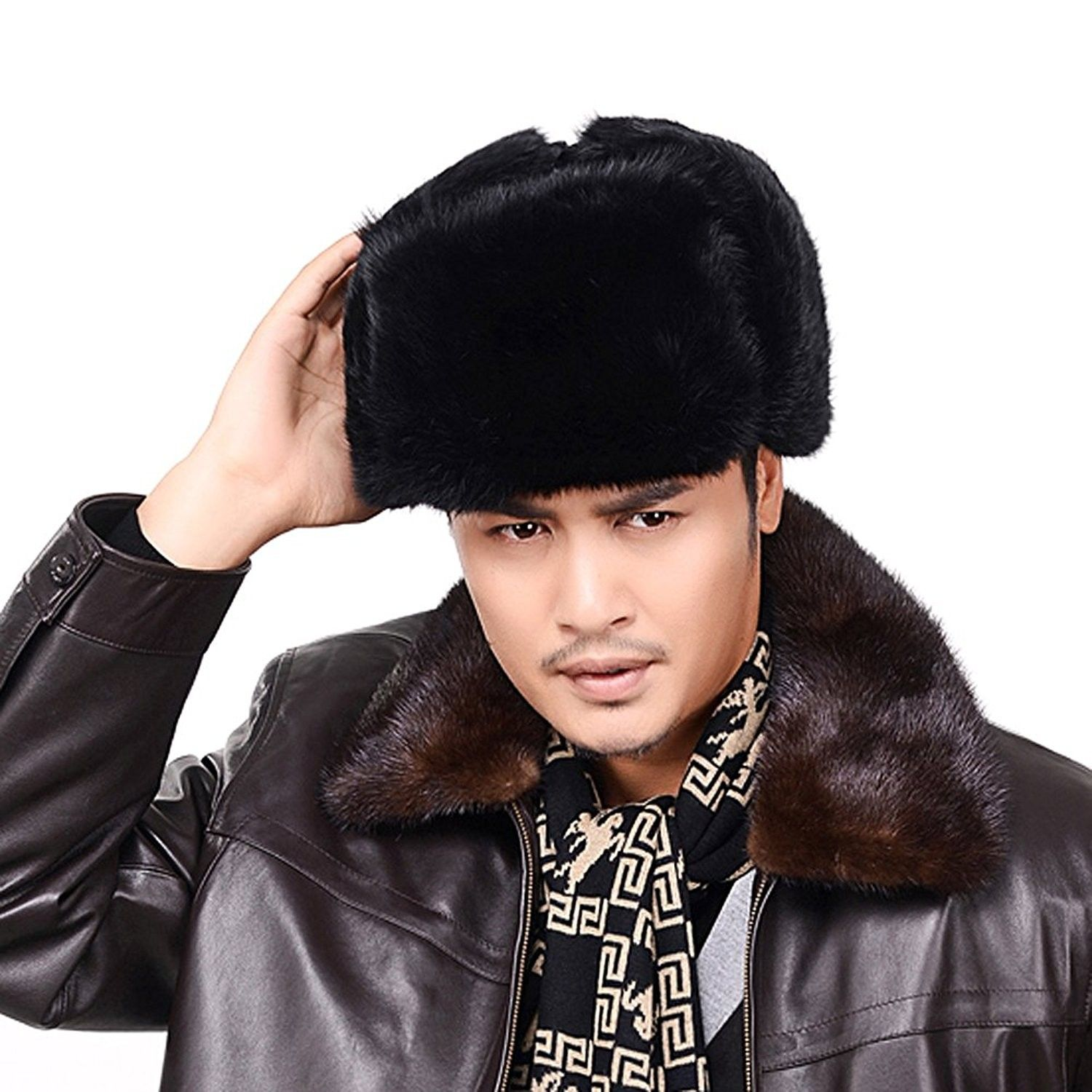 3549af1a2ae Men s Women s Natural Rabbit Full Fur Russian Soviet Ushanka Winter ...