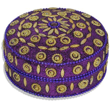Round Decorative Boxes Enchanting Purple Handmade Round Jewelry Box  Jewelry Boxes  Pinterest Inspiration Design