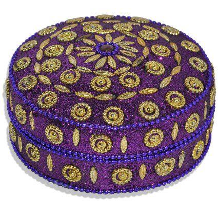 Round Decorative Boxes Enchanting Purple Handmade Round Jewelry Box  Jewelry Boxes  Pinterest Inspiration Design