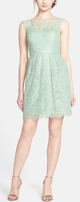 Mint sheath dress by Jenny Yoo