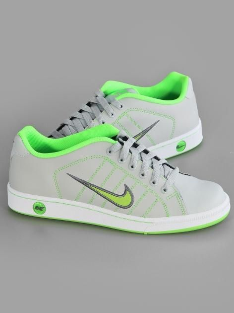 Nike Court Tradition II Dusty Grey Flash Lime Cool Grey #Nike #Court  #Sneakers
