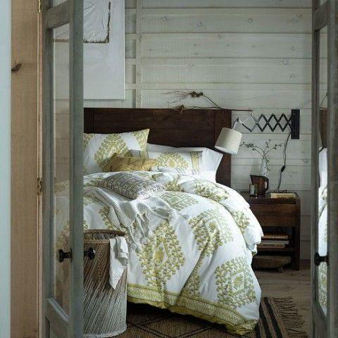 Organic Cotton Mandala Ikat Duvet Cover Shams