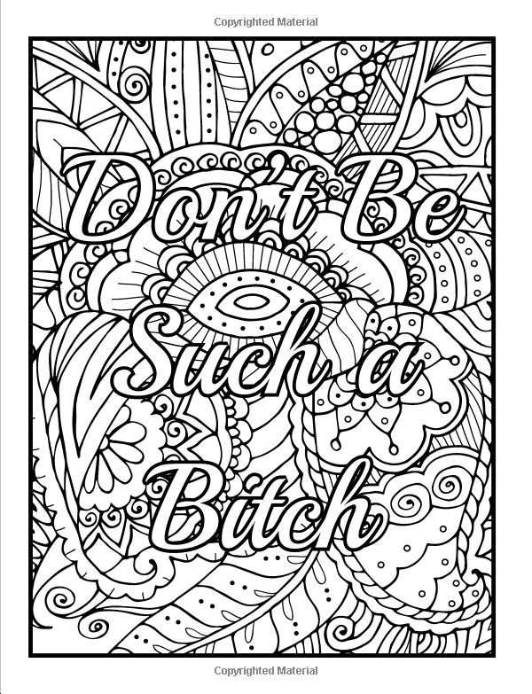 Amazon Calm The Fuck Down And Color An Adult Coloring Book With Swear Words Sweary Phrases Stress Relieving Flower Patterns For Anger