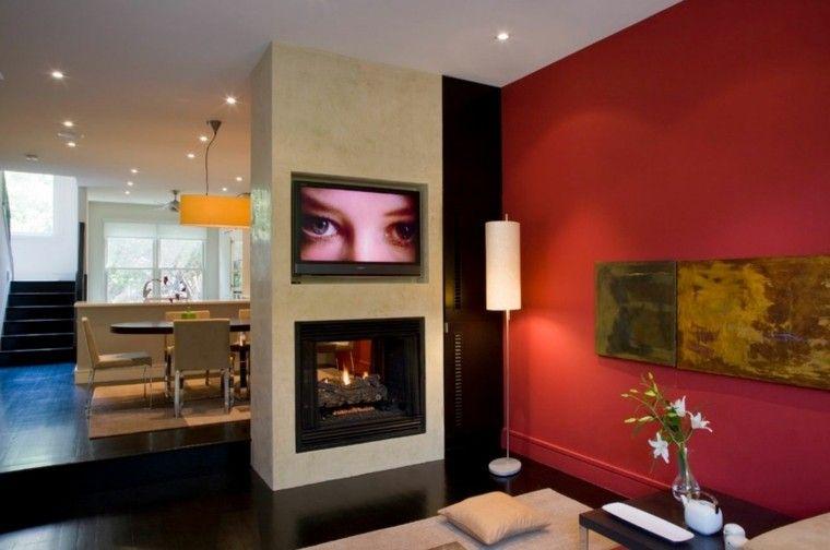 presentamos las tendencias ms actuales para la decoracin de las paredes de salones y salas de estar con combinaciones modernas de pinturas de colores - Decoracion Pintura Paredes