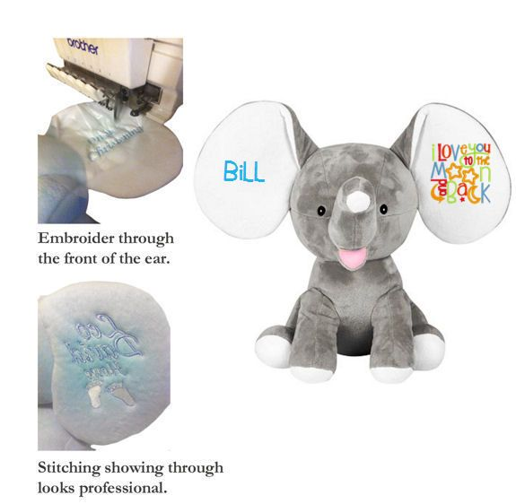 Wholesale Baby Cubbies Embroidery Blanks - Dumbles Elephants