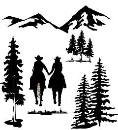 Western Vinyl Rodeo Boot Window Decals Stickers Cowgirl Decal Prayer #009
