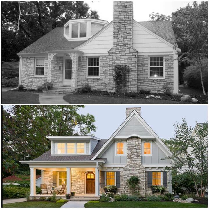 Image result for exterior home remodel before and after for Remodeling old homes