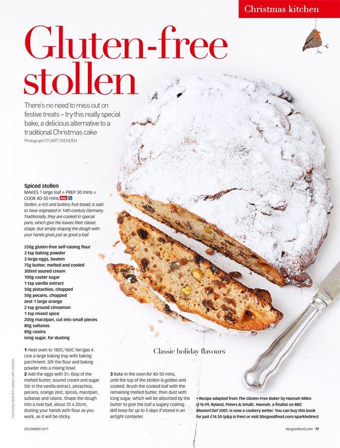 gluten free stollen !!! Boom! Christmas baking Pinterest