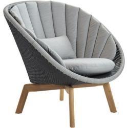 Photo of Lounge chair Peacock Cane-line gray, Designer Johannes Foersom & Peter Hjort-Lorenzen, 87x91x93 cm C