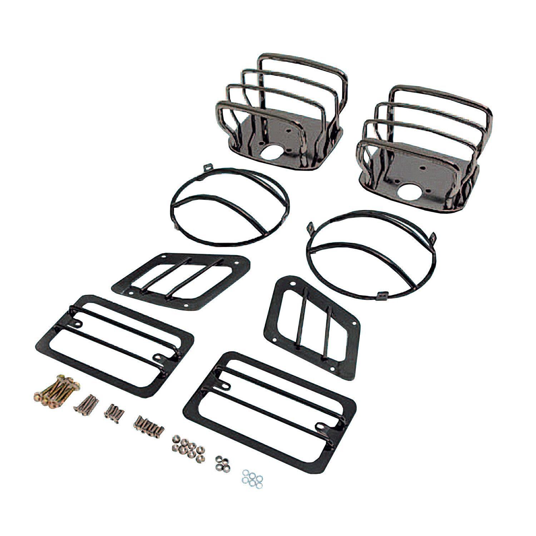 euro guard kit black chrome 97 06 jeep wrangler tj products Jeep JK Rear Corner Skins euro guard kit black chrome 97 06 jeep wrangler tj