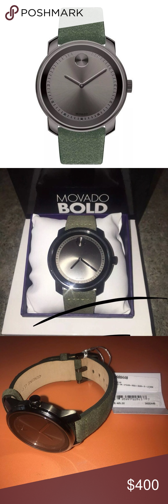Movado Swiss Bold Suede Leather Strap Movadou0027s Signature Museum Dot Shines  At 12 Ou0027clock On The Minimalist Dial Of A Sleek Round Watch Set On A  Color Soaked ... Nice Ideas