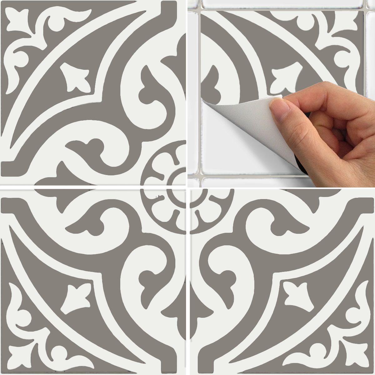 Tile sticker for kitchen bath floor wall waterproof - Stickers pour carrelage mural cuisine ...