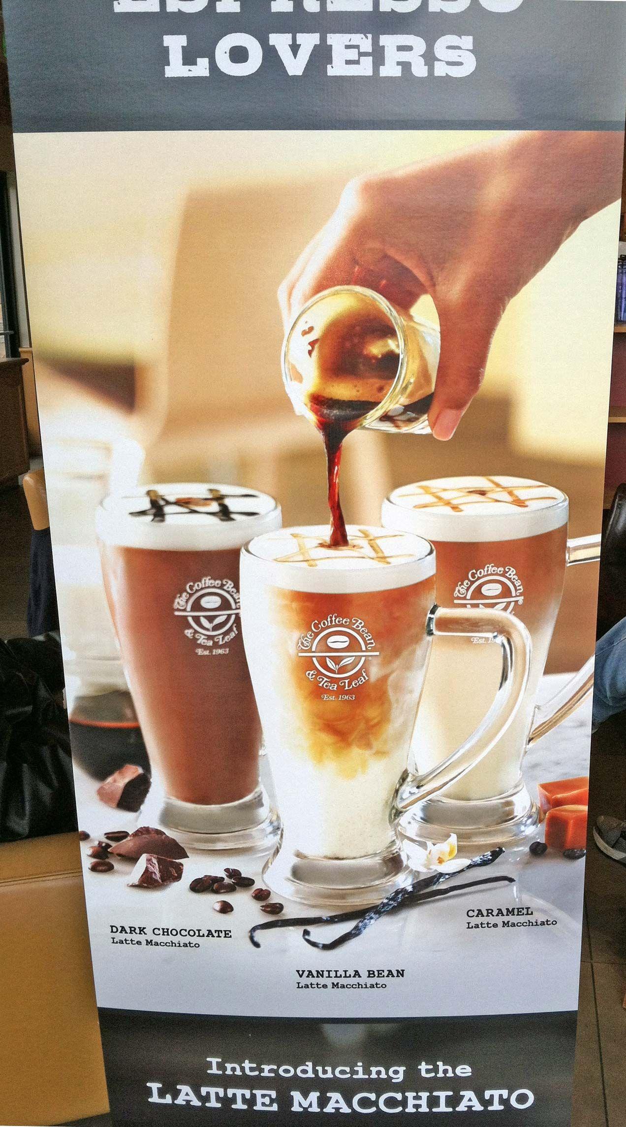 Coffee Bean Tea Leaf Entry Signage Tea Leaves Restaurant Marketing Alcoholic Drinks