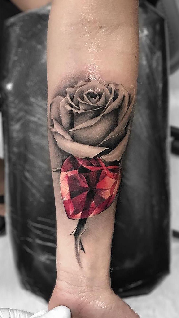 Roses And Diamonds Tattoo : roses, diamonds, tattoo, Tattoo