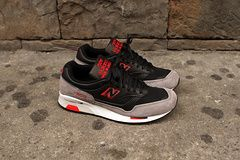 Men's And Women's New Balance 1500 Running Shoes 1500GYB Suede 1:1 Black Red|only US$75.00 - follow me to pick up couopons.