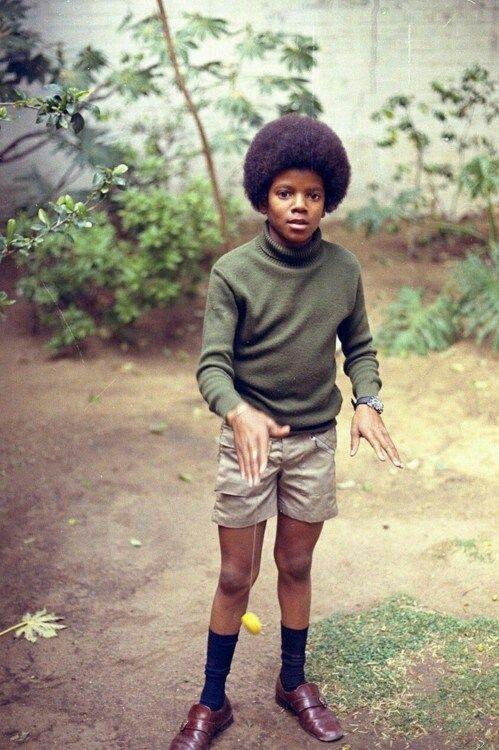Awe little Michael #michaeljackson
