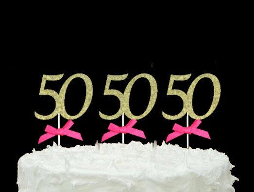 LissieLou Happy 60th Birthday Cake Topper Glitter Gold Christmas Gift Ideas 2018