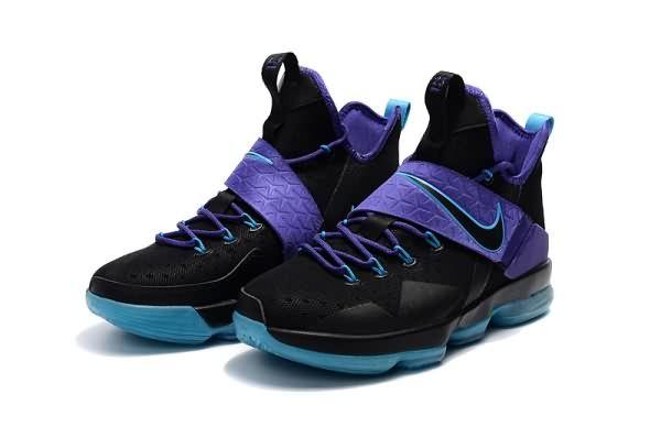 los angeles 20b97 36342 Cheap LeBron James in Nike LeBron 14 Black Purple Jade