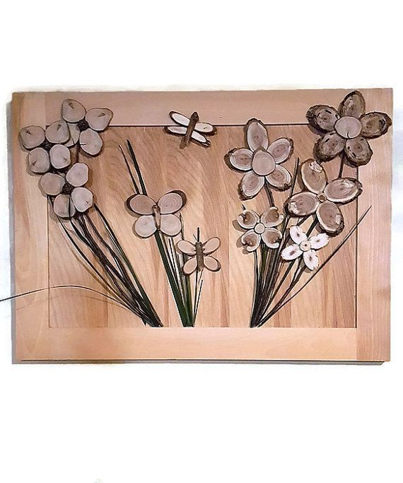 3d Wooden Flower Art Hanging One Of A Kind Wood Wall Art Of