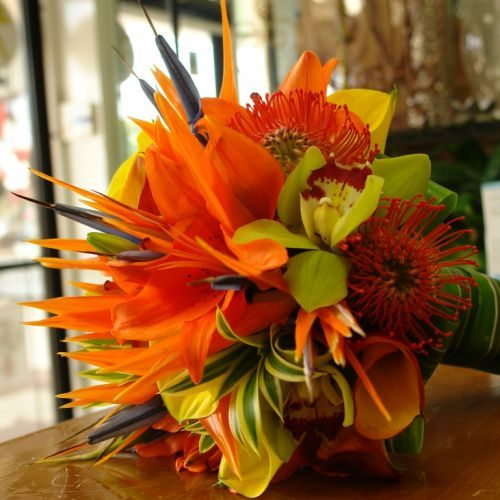 tropical bridal bouquets | Bridal Hand-Tied Bouquet [TFM-WB538] : Terra Flowers Miami - Wedding ...