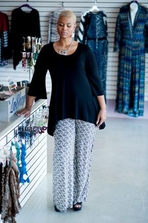 2038e04e15 How to Wear Plus Size Palazzo Pants http   www.delightfullycurvy.com