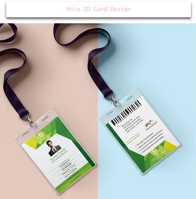 Nice Id Card Design  Design Desk    Creative