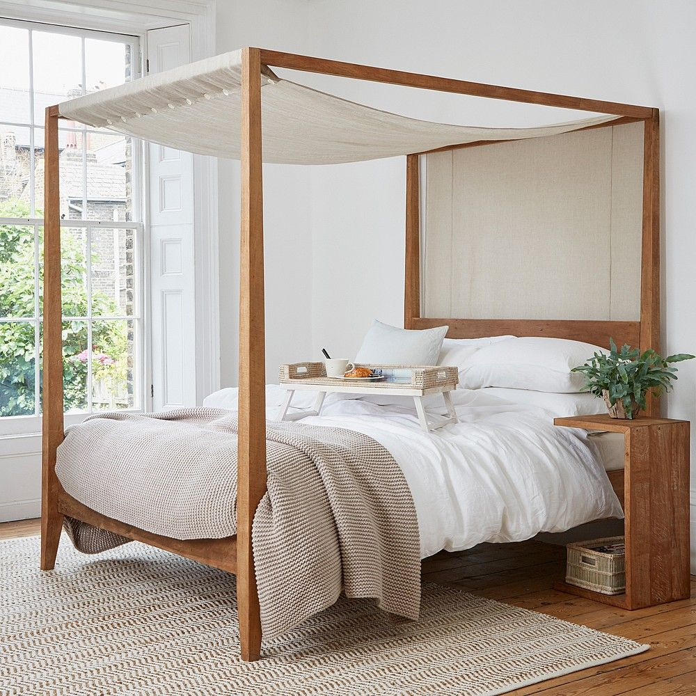 sumatra four poster bed | teak, bedrooms and bedroom inspo