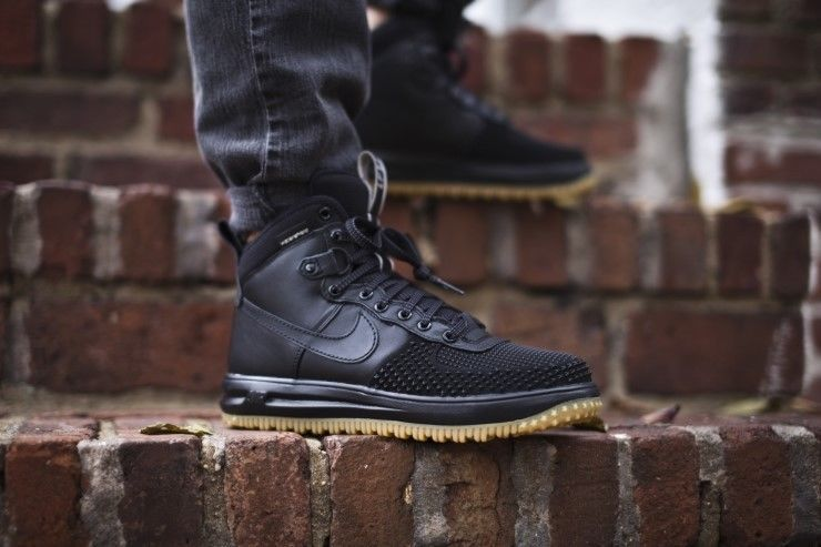 Black · NIKE LUNAR AIR FORCE 1 DuckBoot Black Wheat Gum DUCK BOOT ...